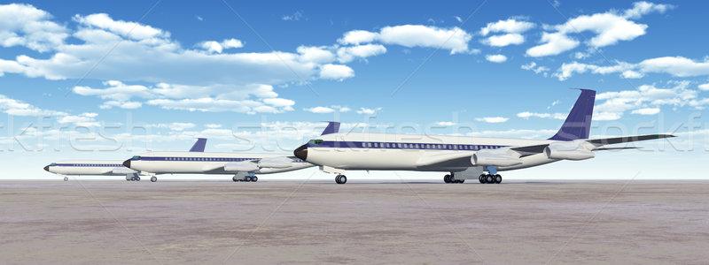 компьютер генерируется 3d иллюстрации три аэропорту Blue Sky Сток-фото © MIRO3D