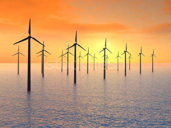 Offshore Wind Farm Stock photo © MIRO3D