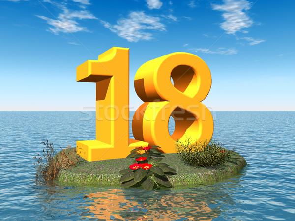 番号 18 コンピュータ 生成された 3次元の図 海 ストックフォト © MIRO3D