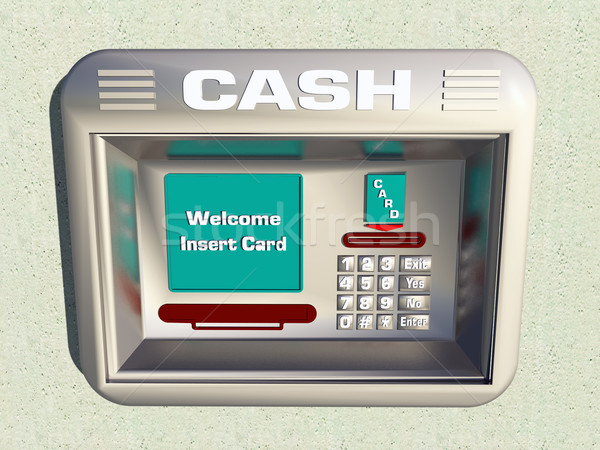 Cash machine computer gegenereerde 3d illustration technologie Stockfoto © MIRO3D