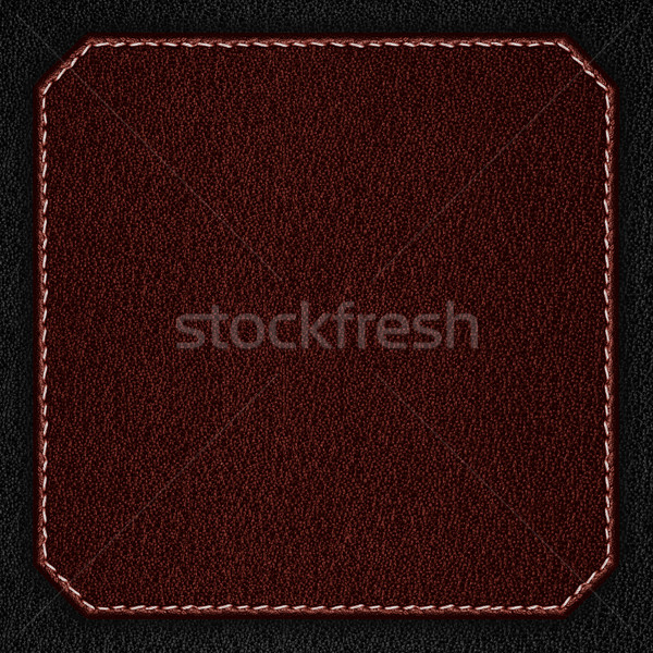 red leather background with white seam Stock photo © MiroNovak
