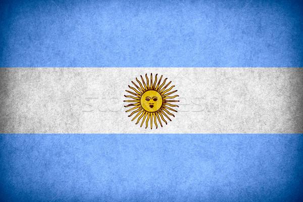 Zászló Argentína argentín szalag papír durva Stock fotó © MiroNovak