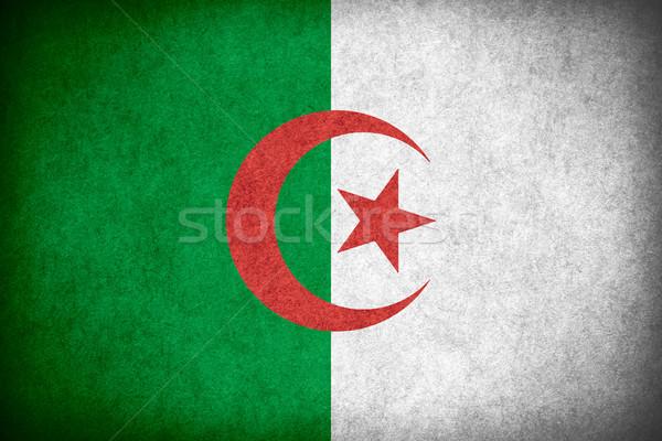Pavillon Algérie bannière papier rêche modèle Photo stock © MiroNovak