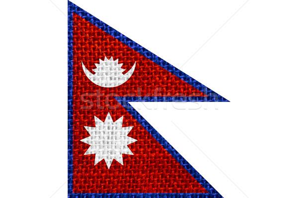 флаг Непал баннер фон Сток-фото © MiroNovak