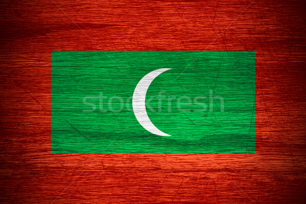 Maldive bandiera banner legno texture Foto d'archivio © MiroNovak