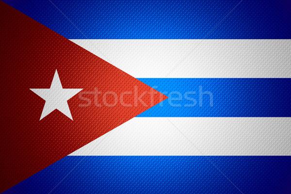 Vlag Cuba cubaans banner abstract textuur Stockfoto © MiroNovak