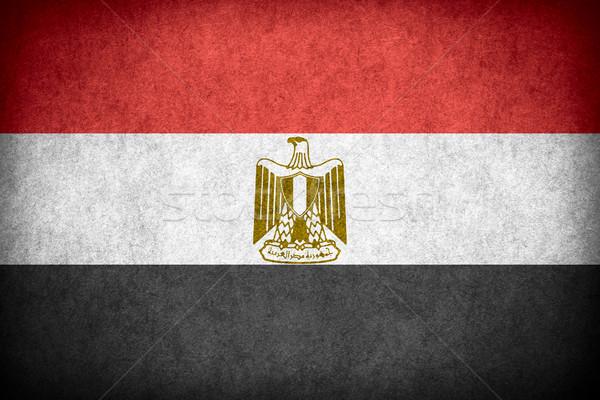 Zászló Egyiptom egyiptomi szalag papír durva Stock fotó © MiroNovak
