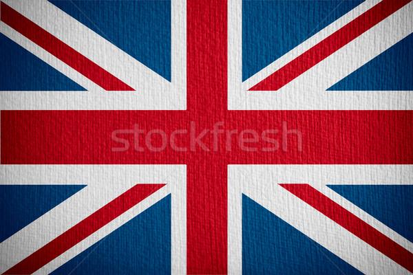 Bandiera Regno Unito britannico banner carta gran bretagna Foto d'archivio © MiroNovak