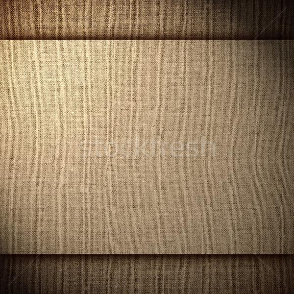 Barna absztrakt vászon hálózat minta vászon Stock fotó © MiroNovak