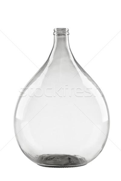 Isolado branco fermentação vidro balão fundo Foto stock © MiroNovak