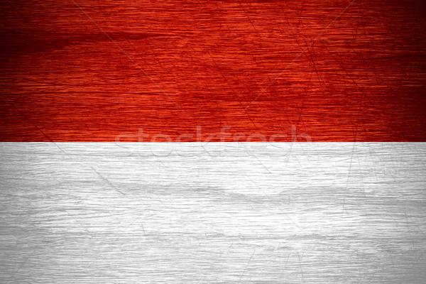 Indonézia zászló szalag fából készült textúra Stock fotó © MiroNovak