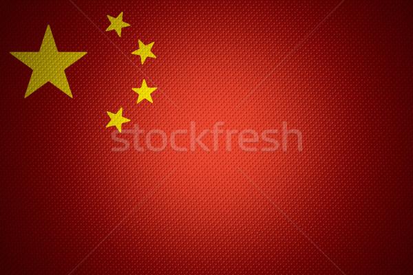 Zászló Kína kínai szalag absztrakt textúra Stock fotó © MiroNovak