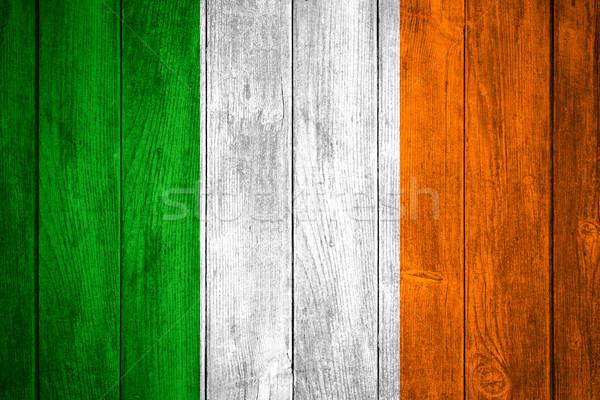 Vlag Ierland groene witte oranje Ierse Stockfoto © MiroNovak