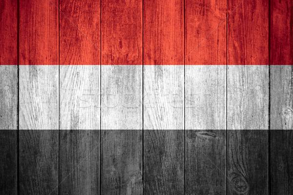 флаг Йемен красный белый черный баннер Сток-фото © MiroNovak