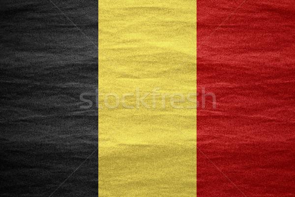 Bandera Bélgica banner lienzo áspero patrón Foto stock © MiroNovak