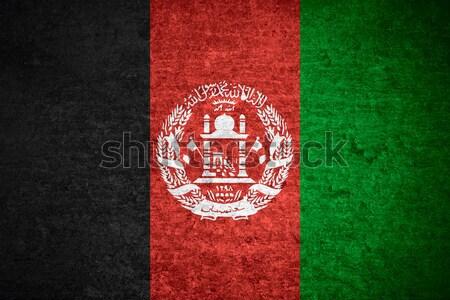 Bayrak Afganistan afiş kâğıt Stok fotoğraf © MiroNovak