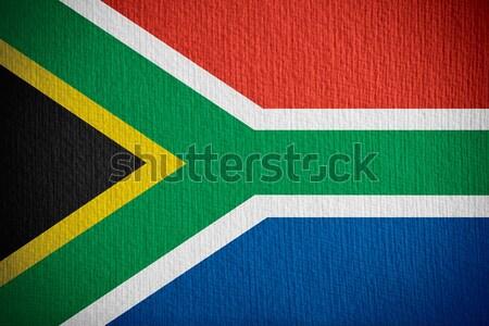Vlag South Africa banner papier textuur Stockfoto © MiroNovak