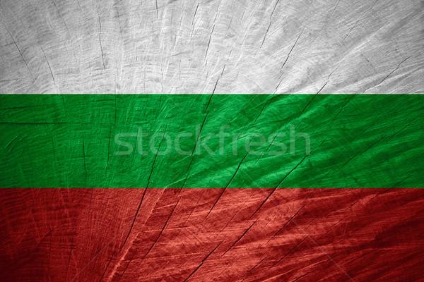 Vlag Bulgarije banner houten textuur Stockfoto © MiroNovak