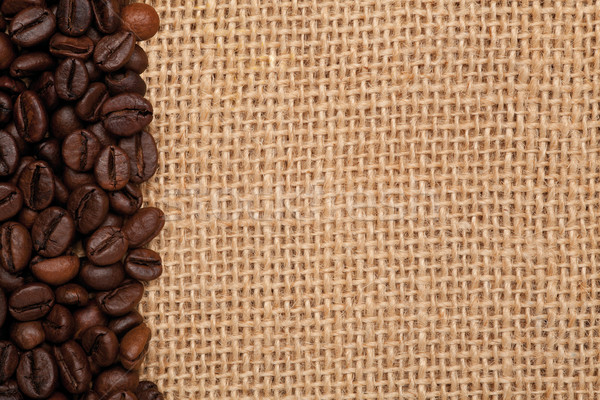 linen texture with coffee beans Stock photo © MiroNovak