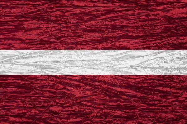 Zászló Lettország szalag vászon textúra Stock fotó © MiroNovak