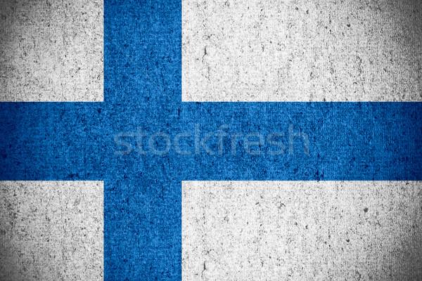 フラグ フィンランド バナー ラフ パターン テクスチャ ストックフォト © MiroNovak
