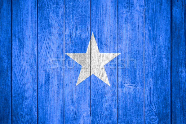 Pavillon Somalie bannière bois texture fond Photo stock © MiroNovak