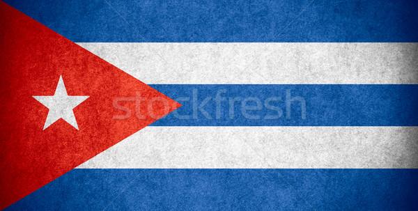Banderą Kuba kubańczyk banner papieru szorstki Zdjęcia stock © MiroNovak