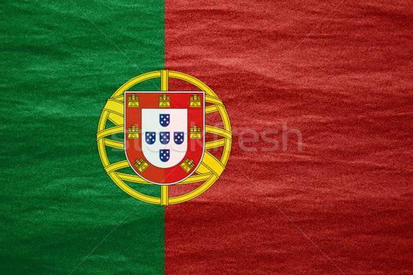 フラグ ポルトガル バナー キャンバス テクスチャ 背景 ストックフォト © MiroNovak