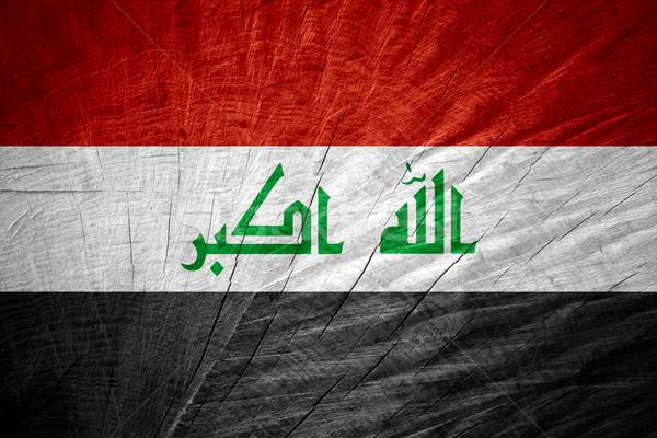 Bandeira Iraque bandeira textura Foto stock © MiroNovak