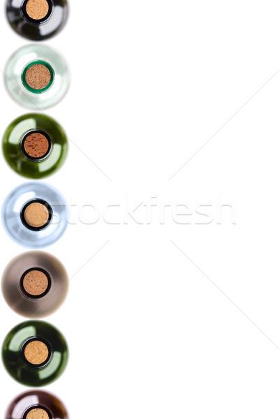Bottles of wine with corks Stock photo © MiroNovak