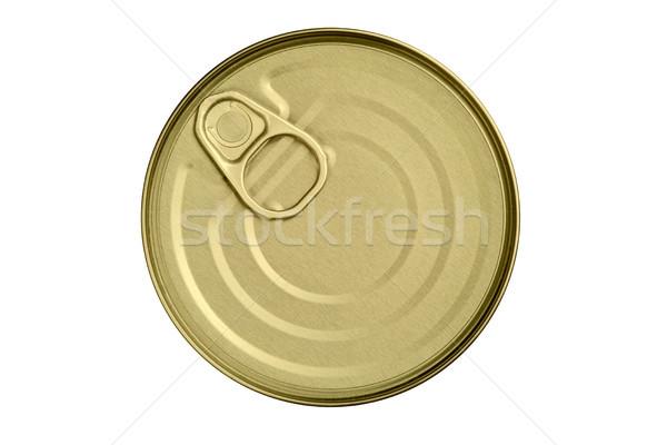 top of tin with opener Stock photo © MiroNovak