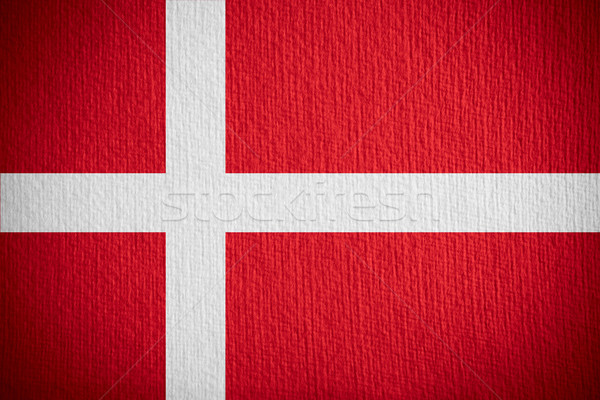 Vlag Denemarken banner papier textuur Stockfoto © MiroNovak