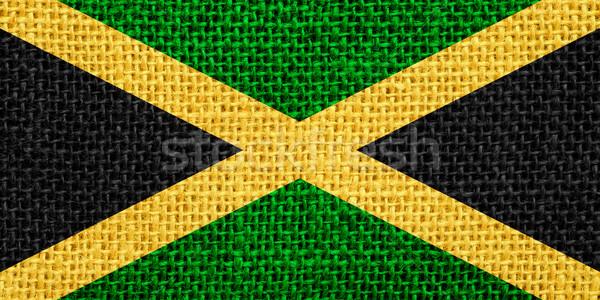 флаг Ямайка баннер текстуры фон Сток-фото © MiroNovak