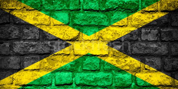 Bandera Jamaica banner ladrillo textura Foto stock © MiroNovak