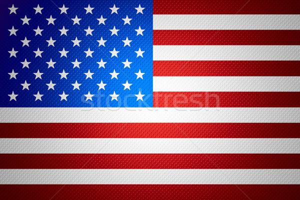 Zászló Egyesült Államok Amerika szalag absztrakt textúra Stock fotó © MiroNovak
