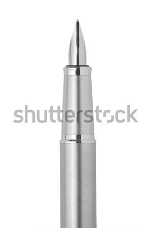 Stahl Füller isoliert weiß Business Stock foto © MiroNovak