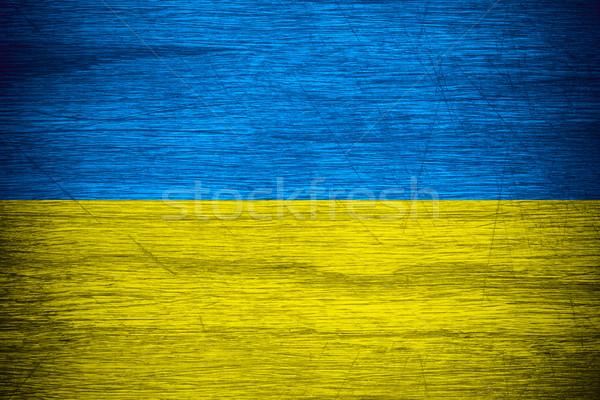 フラグ ウクライナ バナー 木製 テクスチャ ストックフォト © MiroNovak