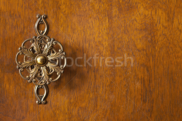detail of wardrobe door with decorative knob Stock photo © MiroNovak
