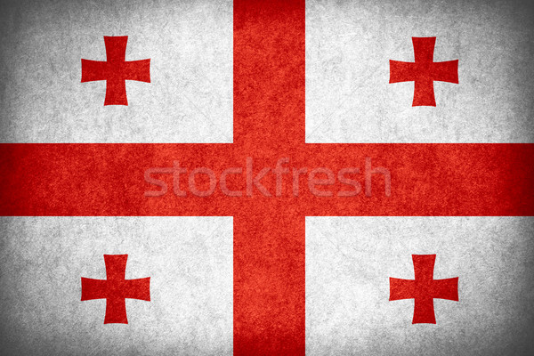 Bandeira Geórgia bandeira papel áspero padrão Foto stock © MiroNovak