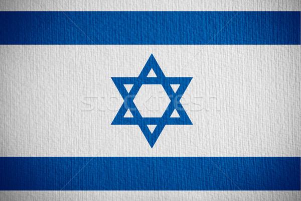 Vlag Israël israëlisch banner papier Stockfoto © MiroNovak