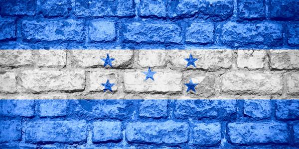 Bandeira Honduras bandeira tijolo textura Foto stock © MiroNovak