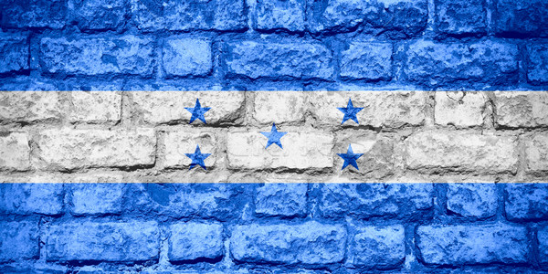 флаг Гондурас баннер кирпичных текстуры Сток-фото © MiroNovak