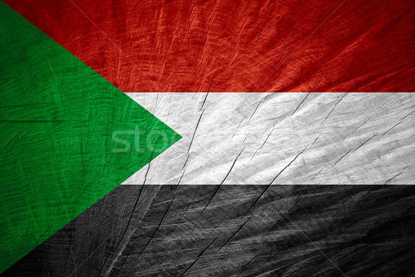Vlag Soedan banner houten textuur Stockfoto © MiroNovak