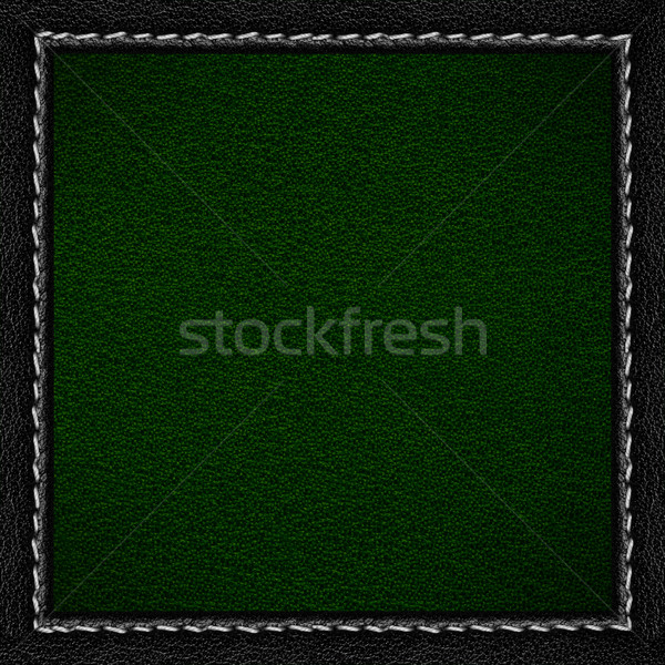 green leather background Stock photo © MiroNovak