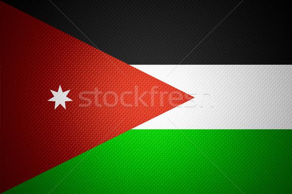 Banderą Jordania banner streszczenie tekstury Zdjęcia stock © MiroNovak
