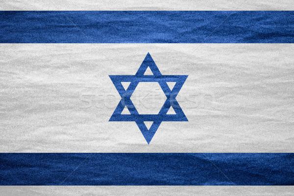 Bandeira Israel israelense bandeira lona áspero Foto stock © MiroNovak