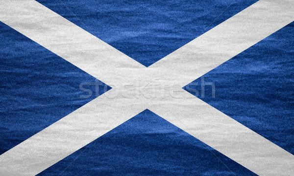 フラグ スコットランド バナー キャンバス テクスチャ 背景 ストックフォト © MiroNovak