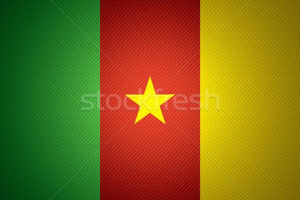 Banderą Kamerun banner streszczenie tekstury Zdjęcia stock © MiroNovak