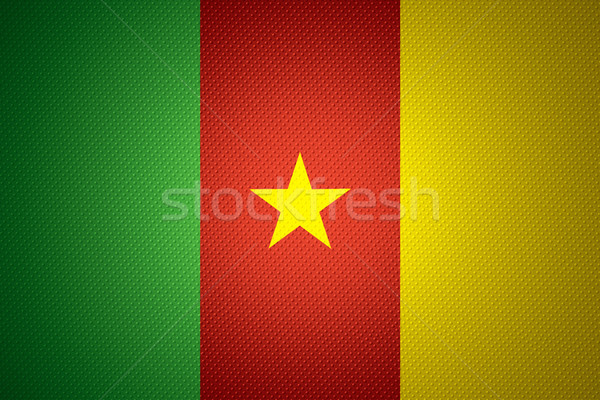 Vlag Kameroen banner abstract textuur Stockfoto © MiroNovak