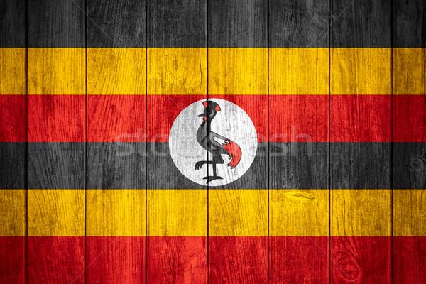 Bandiera Uganda banner legno texture sfondo Foto d'archivio © MiroNovak